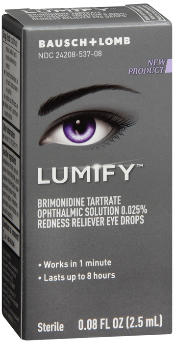 Lumify Redness Relief Drops 2.5ml By Bausch & Lomb