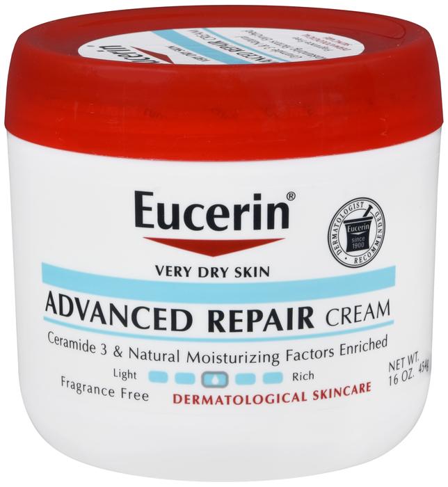 Eucerin Advanced Repair Cream Jar 16 Oz