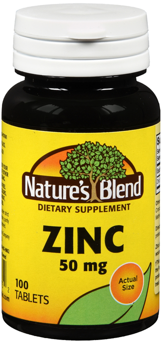 Natures Blend Zinc Gluconate 50 mg Tab 100 By National Vitamin