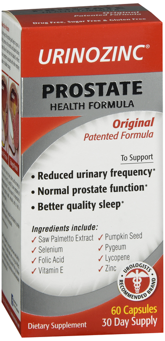 Urinozinc Prostate Formula 60 Count By Emerson Healthcare LLC