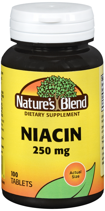 Niacin 250mg Tab 100 Count Nature's Blend