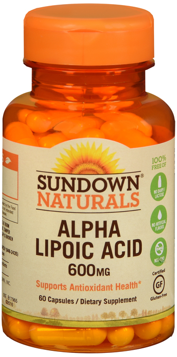 ALPHA LIPOIC ACID 600MG CAP 60CT SUNDOWN 