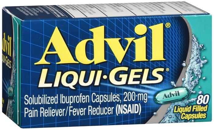 Advil 200 mg Caplet 80 by Pfizer