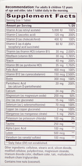 Alpha Betic MULTIVITAMIN 30 By Schwabe North America