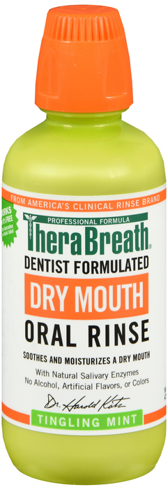 Therabreath Dry Mouth Rinse Mint 16 OZ
