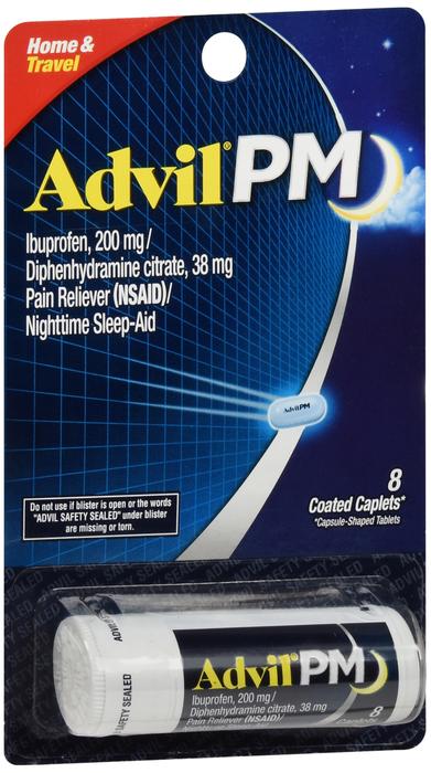 ADVIL PM VIAL BLISTER CAPLET 12X8CT By Cashco Distributors, . Item No.:OTC724252 NDC No.: UPC No.:3-05730-16408-5 305730-164085 305730164085  Item Description: Trial/Travel Sizes Other Name:Advil Vial