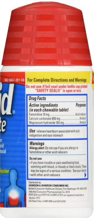 '.Pepcid Complete Tablet Mint 50.'