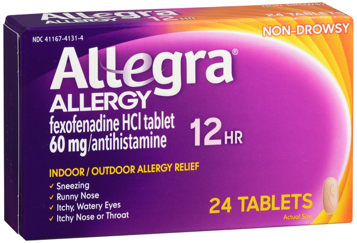 Allegra OTC 12Hr 60mg Tablet 24 Count Cht By Chattem Drug & Chem Co