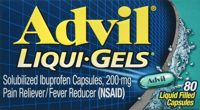 Advil 200 mg Caplet 80 By Pfizer Pharma Item No.:OTC706127 NDC No.: 00573-0169-40 00573-169-40 0057316940 00573016940 UPC No.: 3-05730-16940-0 305730-169400 305730169400 Item Description: Misc Pain Re