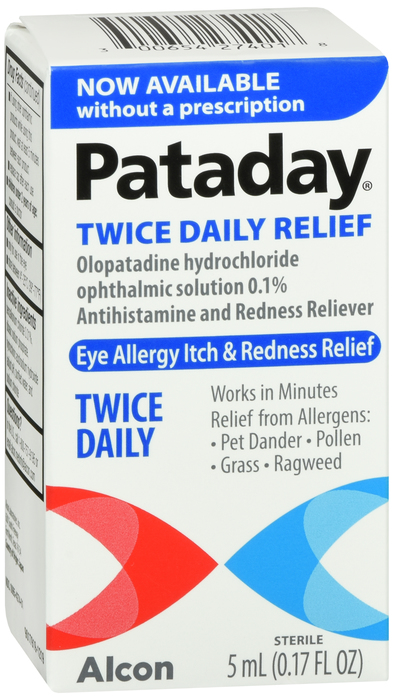 Pataday Twice Daily ALlergy Relief by  Alcon Vision Care Grp By Alcon Vision Care Grp Item No.:940546 OTC940546 NDC No.: 00065-4274-01 00065-4274-01 0065427401 00065427401  UPC No.: 3-00654-27401-8 30