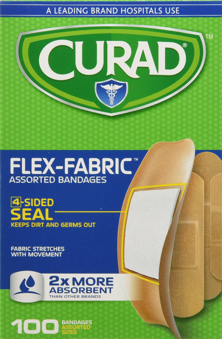 Curad Bandage Flex-Fabric Asst Bandages Assorted 100 Count