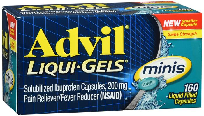 ADVIL LIQUI-GELS 200MG MINIS 160CT by Pfizer