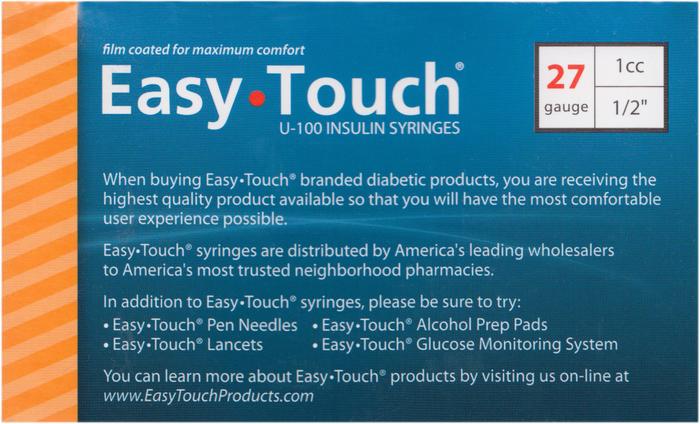 Easy Touch Syringe 27G 1/2