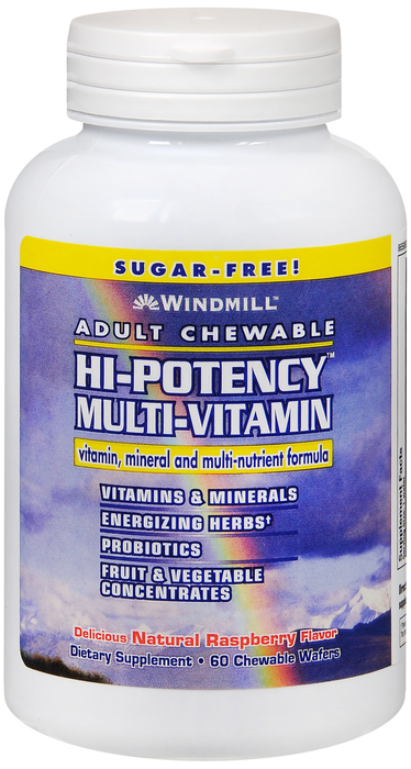 Windmill Hi Pot 60 By Windmill Health Products Item No.:4868202 NDC No.: UPC No.: 035046050719 Item Description: Multivitamins Other Name:Windmill Hi Pot Therapeutic Code: Therapeutic Class: Vitamins