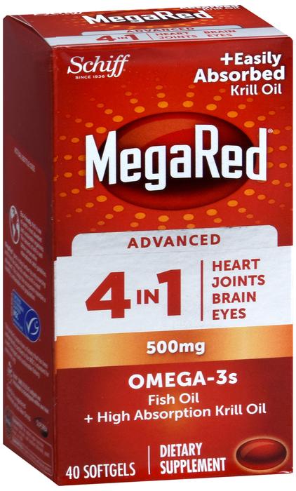 Megared ADV OMEGA 500MG 4 IN 1 SGC 40CT