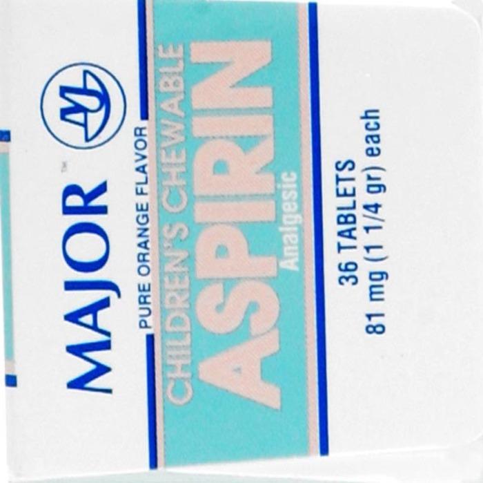 '.Aspirin 81mg Chewable Orange .'