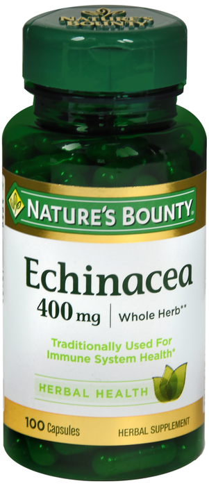 Echinacea 400mg Cap 100 Count Nat Bounty