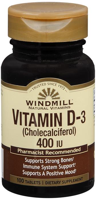 Windmill Vit D 100 By Windmill Health Products Item No.:4160869 NDC No.: UPC No.: 035046002152 Item Description: Vitamin D Other Name:Windmill Vit D Therapeutic Code: Therapeutic Class: Vitamins DEA C