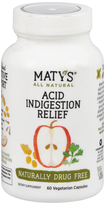 Marty's All Natural Acid Relief Cap 60 Ct