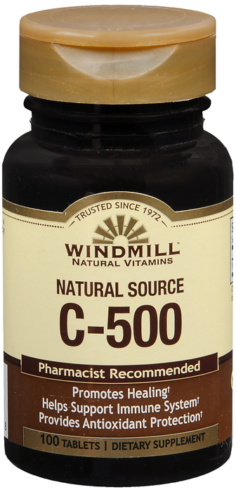 Windmill Vit C 100 By Windmill Health Products Item No.:4896485 NDC No.: UPC No.: 035046011758 Item Description: Vitamin C Other Name:Windmill Vit C Therapeutic Code: Therapeutic Class: Vitamins DEA C