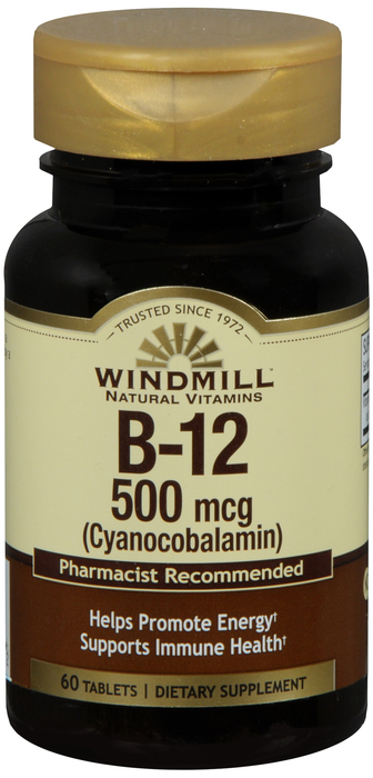 Windmill B-6 250 mg Tab 60 By Windmill Health Products Item No.:4165403 NDC No.: 35046000124 UPC No.: 035046001247 Item Description: Vitamin B & Vitamin B Complex Other Name:Windmill B-6 Therapeutic C