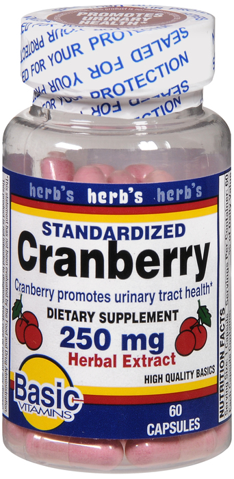 Cranberry 250 mg Cap 60 By Basic Vitamins