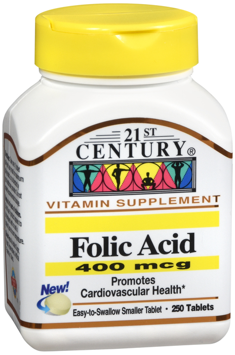 21st Century Vitamin Supplement Folic Acid 400 mcg 250 Tablets Item No.:OTC-H- 740985213773 Home/Nutrition & Supplements/21st Century/21st Century Vitamin Supplement Folic Acid 400 mcg 250 Tablets