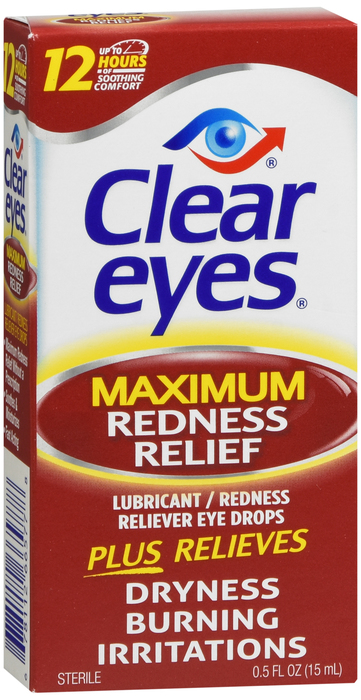 Clear Eyes Maximum Redness Relief Eye Drops - 0.5 fl oz bottle