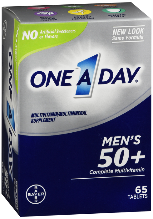 One-A-Day Advantage Men 50+ Tab 65 Ct