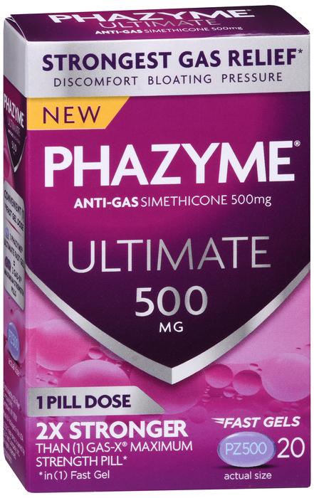 Phazyme Ultimate Geltab 500 MG 20 Ct