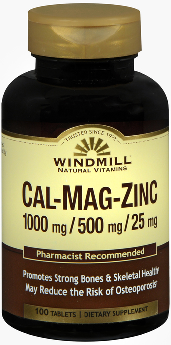 Windmill Calcium Magnesium & 100 By Windmill Health Products Item No.:4165504 NDC No.: UPC No.: 035046001568 Item Description: Multi-Minerals Other Name:Windmill Calcium Magnesium & Therapeutic Code: