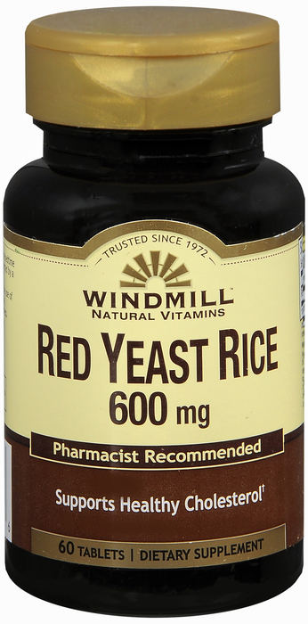 Red Yeast Rce 600 mg Tab 60 By Windmill Health Products Item No.:4623987 NDC No.: 35046000457 UPC No.: 035046004576 Item Description: Misc Herbals & Botanicals Other Name:Red Yeast Rce Therapeutic Cod