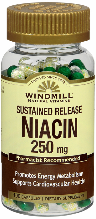 Windmill Niacin 100 By Windmill Health Products Item No.:4165807 NDC No.: UPC No.: 035046003319 Item Description: Vitamin B & Vitamin B Complex Other Name: Windmill Niacin Therapeutic Code: Therapeut