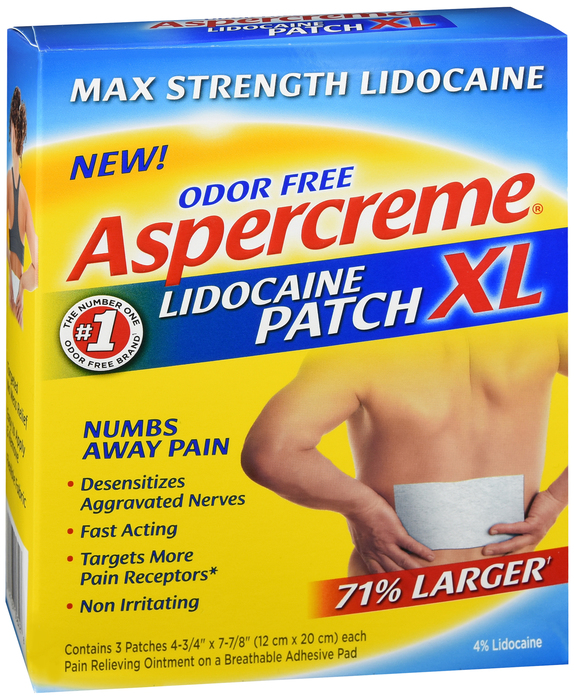 Aspercreme Lidocaine Patches XL 3 count by Chattem