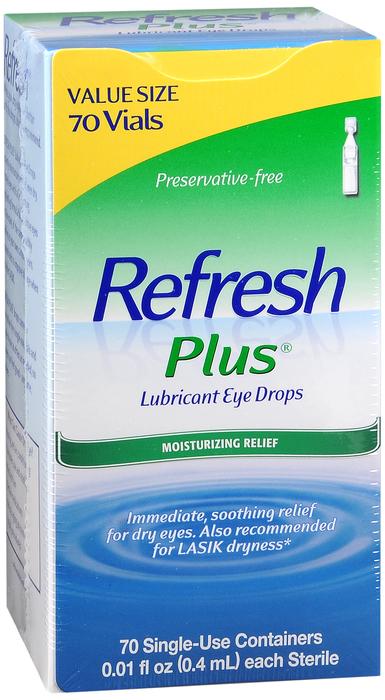 Refresh Plus Lubricant Single-Use Eye Drops - 70 Ct 0.01 Fl oz Vials