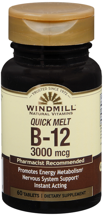 B-12 60 By Windmill Health Products