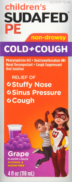 SUDAFED PE cough and cold LIQUID 4 oz BY J&J