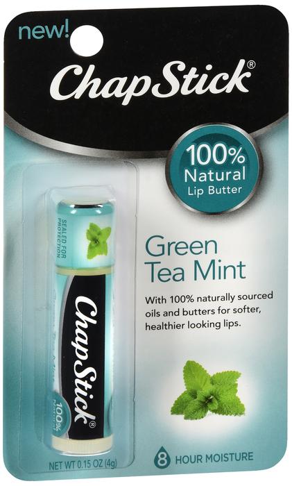 Chapstick Naturals Grn Tea Mint 12X.15Oz