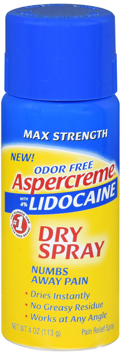 Aspercreme lidocaine Dry Spray 4 oz by Chattem