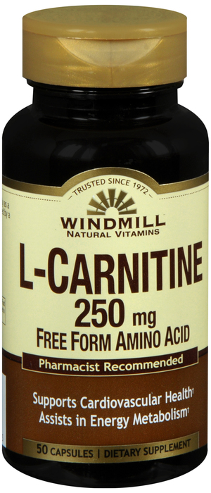 L-Carnitine 50 By Windmill Health Products Item No.:4595951 NDC No.: UPC No.: 035046004545 Item Description: Enzymes, Amino Acids & Hormone Other Name:L-Carnitine Therapeutic Code: Therapeutic Class: