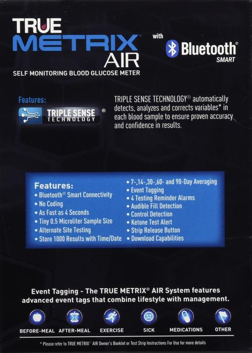 True Metrix Air Meter Kit By Truvidia Nipro Diagnostics Item No.:4491163 OTC491163 491163  NDC No.: 56151-1490-02 56151-1490-2 56151149002 5615114902 UPC No.: 0-21292-00701-0 021292007010 021292-00701