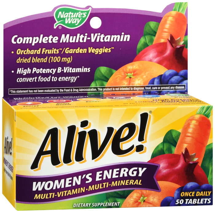 Alive Multivit Women Energy Tablet 50 Count By Schwabe North Ameri