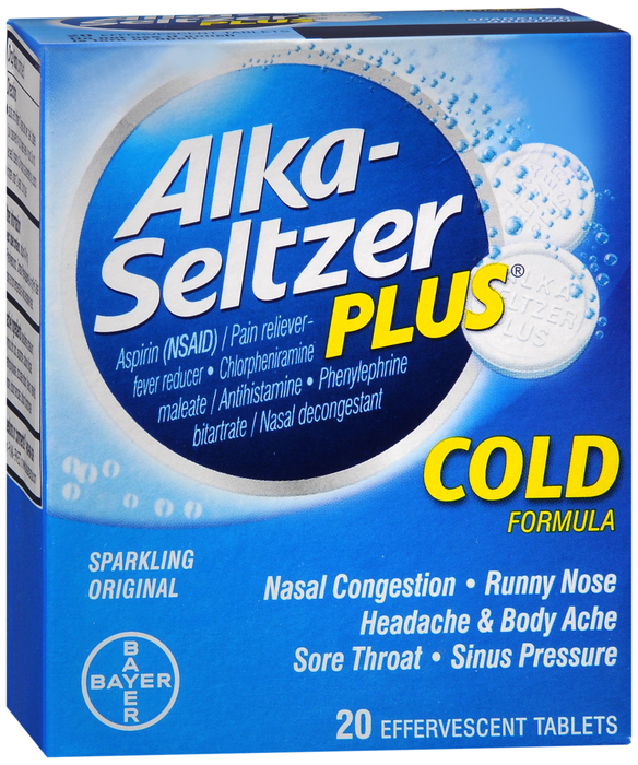 Alka-Seltzer Plus Cold Tablet 20Ct