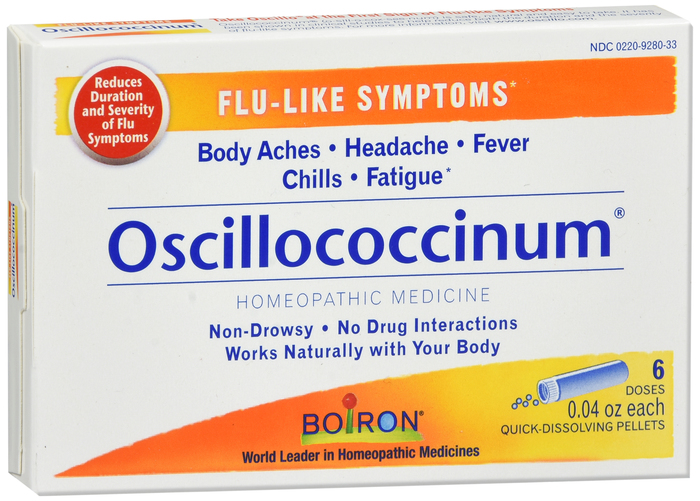OSCILLOCOCCINUM UNIT DOSE PELLET 6 CT 