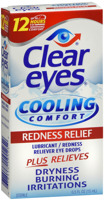 Clear Eyes Cooling Comfort Eye Drops, Redness Relief - 0.5 fl oz bottle