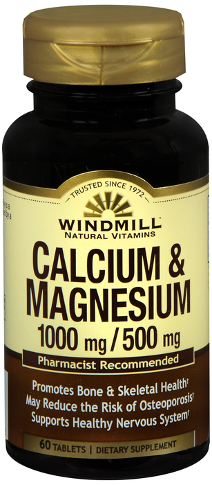 Calcium Magnesium Tablet 60 Count Windmill By Windmill Health Products
