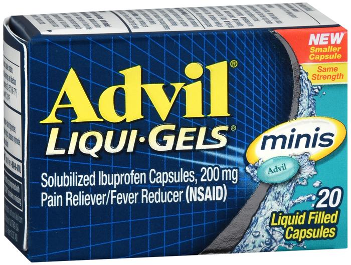 ADVIL LIQUI-GELS 200MG MINIS 20CT by Pfizer