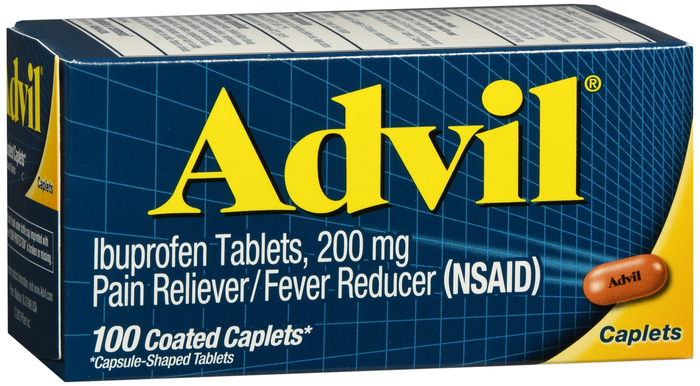 Advil 200 mg Caplet 100Ct