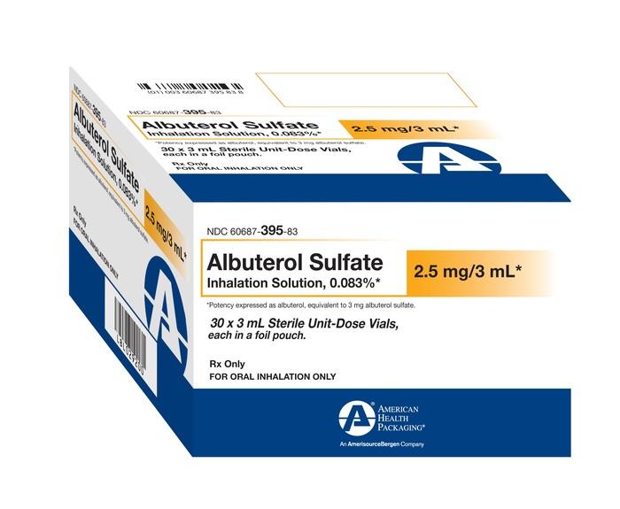 Rx Item-Albuterol Ahp 0.00083 30X1X3 Ml Sol By American Health Packaging (Inh